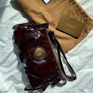 Gucci Hysteria Small Patent Leather Clutch Handbag